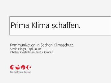 Klimakommunikation, Hingst