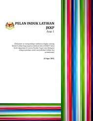 pelan induk latihan jkkp - Department of Occupational Safety and ...