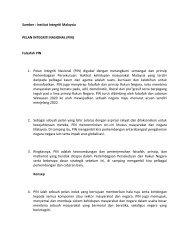 Sumber : Institut Integriti Malaysia PELAN INTEGRITI NASIONAL ...
