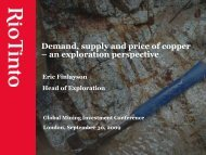 Demand, supply and price of copper – an exploration ... - Rio Tinto