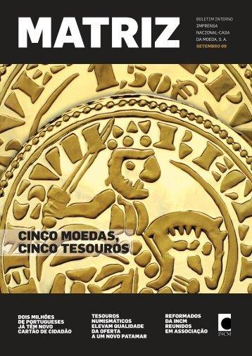 cinco moedas, cinco tesouros - Imprensa Nacional-Casa da Moeda