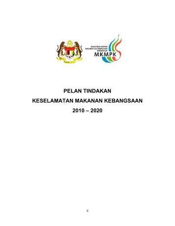 pelan tindakan keselamatan makanan kebangsaan 2010 – 2020
