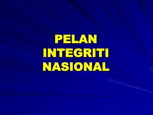 pelan integriti nasional.pdf - Kementerian Pelajaran Malaysia