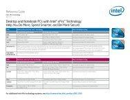 Desktop and Notebook PCs with Intel® vPro™ Technology - Intel MSP