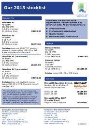 stock list - Computer Aid International