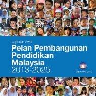 Pelan Pembangunan Pendidikan Malaysia 2013-2025