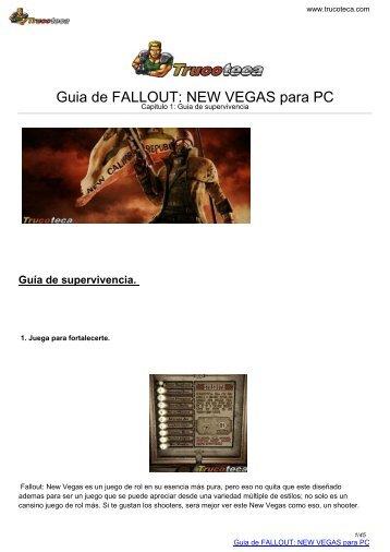 Guia de FALLOUT: NEW VEGAS para PC - trucoteca.com