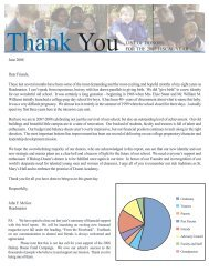 Thank You LIST OF DONORS FOR THE 2007 ... - Doane Academy