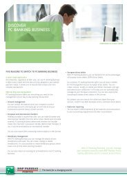 DISCOVER PC BANKING BUSINESS - BNP Paribas Fortis