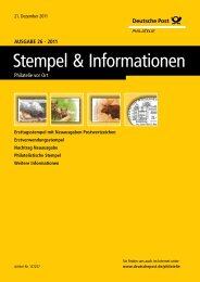 "Bestellblatt ""Stempel & Informationen"" - Deutsche Post - Philatelie"