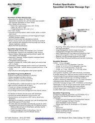 SpeedAlert 24 Spec Sheet - All Traffic Solutions