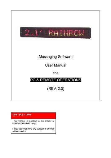 User Manual - Digital LED billboard Electronic Signs Display LED ...