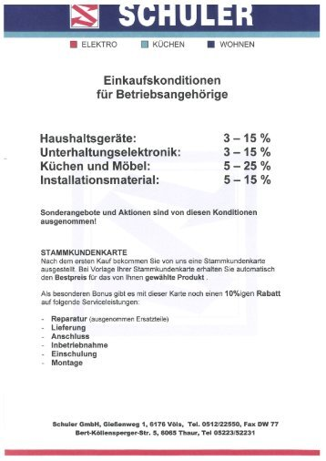 Elektro Schuler - Wasserrettung INNSBRUCK