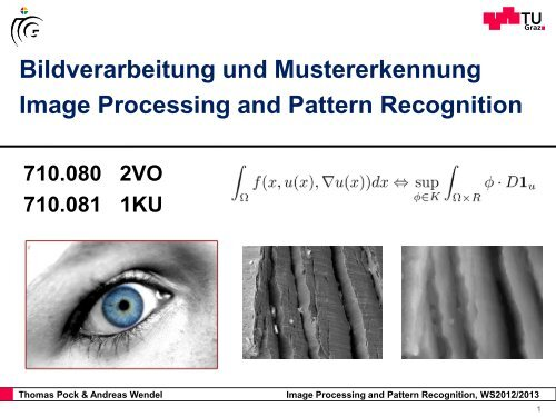 Informatik an der TU Graz - Institute for Computer Graphics and Vision