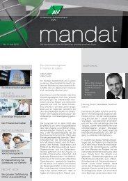 mandat»: Ausgabe 01/2012 - St.Gallischer Anwaltsverband SGAV