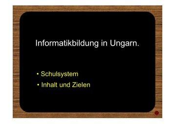Informatikbildung in Ungarn.