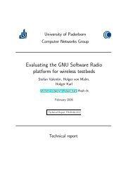 Evaluating the GNU Software Radio platform for wireless testbeds