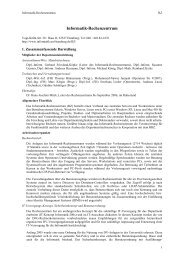 Informatik-Rechenzentrum - Fachbereich Informatik - Universität ...