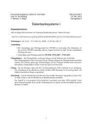 Übungsblatt 0 - Institut für Informatik - Universität Augsburg