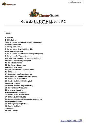 Guia de SILENT HILL para PC - trucoteca.com