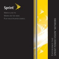 Treo Power Vision User Guide - Sprint Support