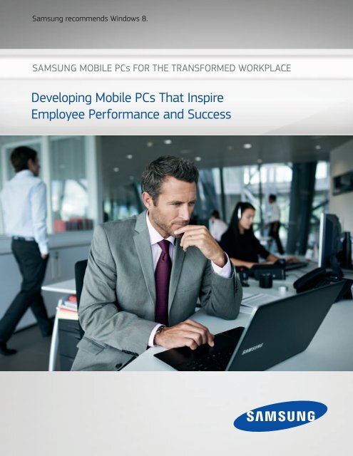 Samsung Mobile PCs for the Transformed Workplace