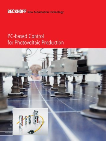 PC-based Control for photovoltaic production - download - Beckhoff
