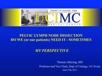 URO-PELVIC LYMPH NODE DISSECTION DO WE