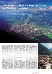 «Hochsitze» – Blick frei über die Dächer von ... - Churer Magazin