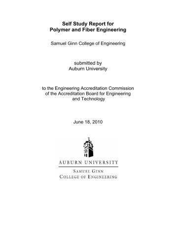 Self Study Report for Polymer and Fiber Engineering - Samuel Ginn ...