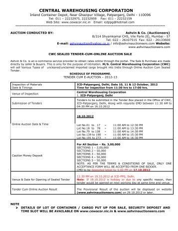 Final Copy of Tender cum E-auction Catalog - Ashvin Auctioneer