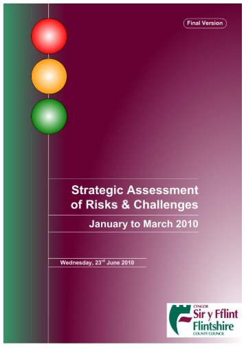 STRATEGIC ASSESSMENT OF RISKS AND CHALLENGES ...