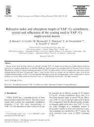 Refractive index and absorption length of YAP : Ce scintillation ...