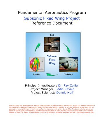 Fundamental Aeronautics Program Subsonic ... - CAFE Foundation