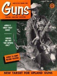 GUNS Magazine August 1959
