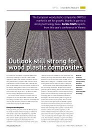 Outlook still strong for wood plastic composites - Mailworx
