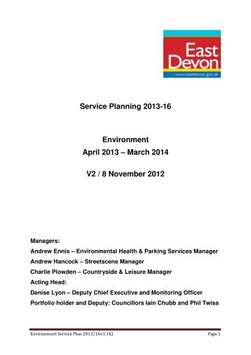 Environment - East Devon District Council
