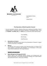 Combined Executive Agenda 120410.pdf - North Ayrshire Council