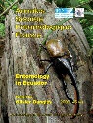 Entomology in Ecuador: Recent developments and - Olivier Dangles