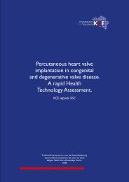 Percutaneous heart valve implantation in congenital and ... - KCE