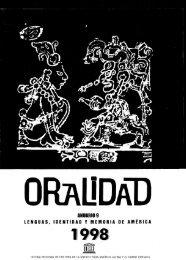Poesía e historia; Oralidad: lenguas, identidad y ... - unesdoc - Unesco