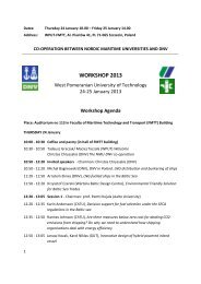 WORKSHOP 2013 - West Pomeranian University of Technology