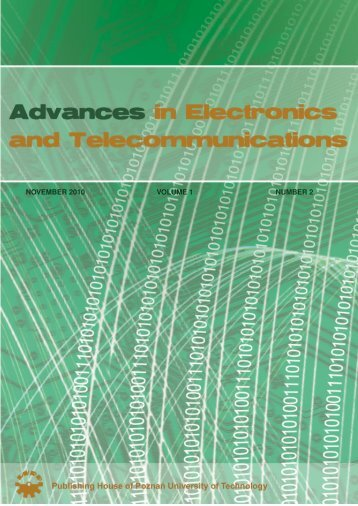 november 2010 volume 1 number 2 - Advances in Electronics and ...