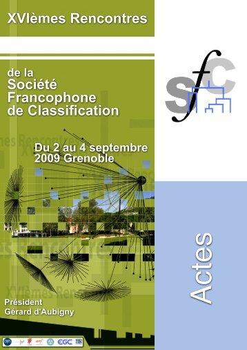 Actes - Société Francophone de Classification