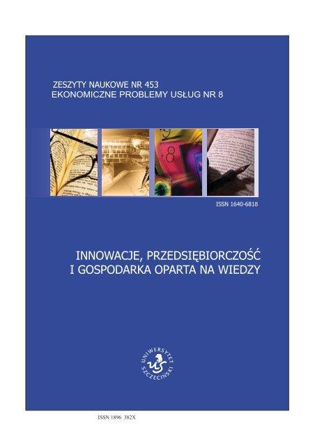 zeszyty naukowe nr 453 - Wydział Zarządzania i Ekonomiki Usług