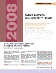 Producenci i dystrybutorzy tworzyw - Design News Polska
