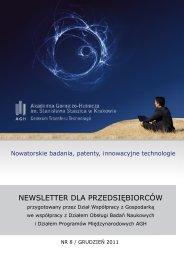 Newsletter dla Przedsiębiorców - grudzień 2011 - CTT AGH