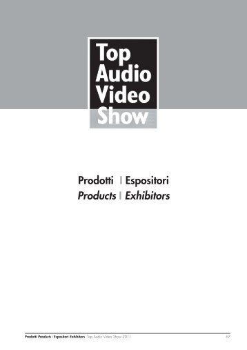 06 Prodotti 11.indd - Top Audio Video Show