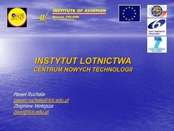 Centrum Nowych Technologii w Instytucie Lotnictwa