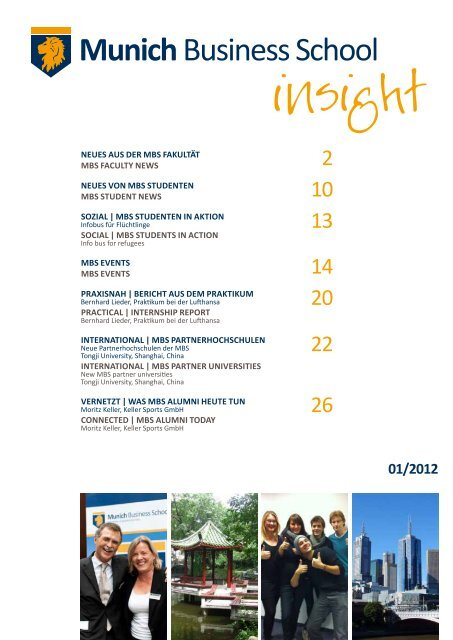 MBS insight 01/2012 - Munich Business School